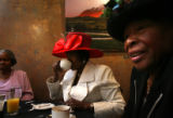 (PG5151)  From left: Willie May Milton, Tina Williams and Catherine Smith enjoy brunch with their...