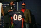 Ross Clady, (cq) father of Denver Broncos first round draft pick Ryan Clady (cq) of Boise State...