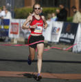 23 year-old Danielle Korb (cq), from Fort Collins, was the winner for the Elite runners at the...
