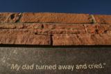 MJM004  A portion of the Columbine Memorial at Clement Park in Littleton is seen Monday morning...