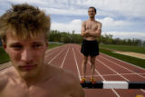 Pete Janson (cq) (left) and Billy Nelson (cq) are both all star steeplechase athletes for the...