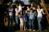 The Anderson family pose for a portrait at their home in Aurora on Sunday, September 7, 2008....