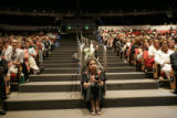 Cecilia Flores (cq), from Denver, listens to Sister Helen Prejean speak out against the death...
