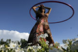 DM0201  Melody Moezzi, an Iranian American, Hula-Hooped for more than five hours to bring...