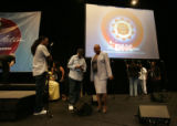 INTERFAITH GATHERING - Leah Daughtry, the CEO of the Democratic National Convention Committee,...