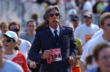[Boulder, CO - Shot on: 5/31/04]The heat and distance of the run didn't stop Kenneth Gross, 58, ...