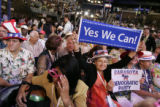 Florida delegates at the Pepsi Center during the Democratic National Convention on Monday, August...