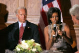 BG_0338 Michelle Obama and Vice Presidential candidate Joe Biden hold a round table on Economic...