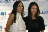 Rosario Dawson and Jessica Alba pose together  at Vinyl for a Voto Latino Event  in Denver, Colo....