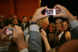 U.S. Senator Joe Biden (cq) talks a photo with fans after speaking to Pennsylvania delegates at...