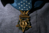 MJM112  Congressional Medal of Honor recipient, George Sakato (cq), 87, proudly wears his medal as...