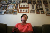(042) Hurricane Katrina survivor Fran Roppolo, 62, sits in her Arvada apartment underneath...