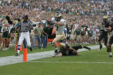 #7 John Mosure (cq) of Colorado State returns a kickoff during the Colorado versus Colorado State...