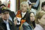 Denver, CO Oct. 27, 2005   Edith Brinkman listens to the discussion between Capitol Hill residents...