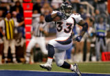 RG383 Denver Broncos' #33, Ron Dayne struts into the endzone for 16-yard touchdown during the...
