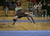Rocky Mountain High School gymnast, Melissa McGoffin(cq), performs her routine in the Floor...