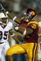USC running back LenDale White rushes for his second touchdown in the first half against Stanford...