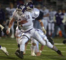 Arvada West #6 L.D. Briscoe runs to the teams third touchdown during the second quarter atthe Fort...