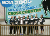 21 NOV 2005:  The University of Colorado poses with their second place trophies during the...