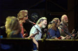(Red Rocks Park, CO, Shot on 061504) The Dead (from left to right) Jeff Chimenti, Phil Lesh, Bob...
