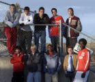 The 2005 Rocky Mountain News All-Colorado boys soccer team photographed at Five Star Stadium...