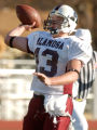 Alamosa quarterback Clay Garcia passes during Alamosa's 21-7 win over Niwot High School at Everly...