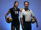 Portrait of Player-of-the-Year Sarah Ammerman, and Coach-of-the-Year Verlyn Rosenthal, Colorado...