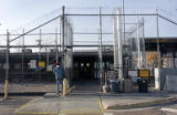 Outer security gates surround TA 55 (technical area) a plutonium processing facility  at the Los...