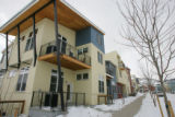 Modern architecture and brightly-painted exteriors set a lively mood for Silver Sage, a co-housing...