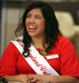 2008 Miss Loveland Valentine Jeanette Rojas (cq) during the Loveland Valentine  unveiling...