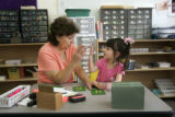 (Denver, Colorado, 10/25/2005)  Ana Marie Sandoval, a dual language Montessori school in Northwest...