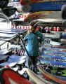 Adam Baer (cq)  inspects a returned pair of rental skis at Christy Sports in Denver at 200...