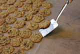 "[JD257] Leslie Sheeder (cq) sets out her famous ""Barbara Bush Cookies"" so they will cool..."