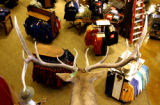(DENVER, Colo., Nov. 7, 2005) A taxidermied deer looks over the showroom floor at the, 186,000...