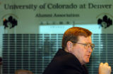 (DENVER, COLO.  June 1, 2004) Steve Golding, V.P. for Budget and Finance, CU System announced CU's...