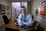 DM0822   Ryan Clement in his office at The Kennedy Group, a lobbying firm in Denver, Colo.,...