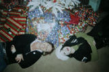 BG0077 COPY PHOTOGRAPH: Emily Rice, left,  lays next to her sister Ginny Rice the Christmas before...