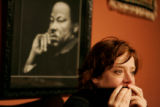 Colorado Obama supporters Erin Stark (CQ) is watches in disappointment at the Senator from Ill.,...