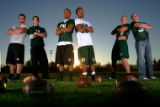 The sets of Brothers on the Colorado State University football team (from left) Dane Stratton, Ben...
