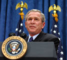 (Denver, Colo., June 1, 2004) President George W. Bush speaks to supporters at a fundraiser at the...