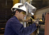 Frank Sciacca (cq), 43, a 3-month employee at Cripple Creek & Victor Gold Mining Company's ...