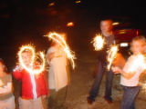 L_R Jeff , Jackie (mom) Brady and Alec Mielnicki from Centennial,CO leave Olde Glory Fireworks...