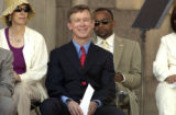 Denver Mayor John Hickenlooper waits to deliver his third State of the City address  in Denver on...