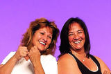 Rocky Fitness Challengers participants Jennifer Kelley, left, and Maria Watts (sisters).  (HAL...