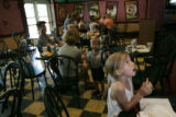 A Day In The Life Of Focus On The Family:  11:40 a.m. - Madison Myers (cq), 7, eats a piece of...