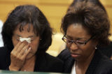 Mother of Javad Marshall-Fields, Rhonda Fields, far right, comforts Christine Wolfe, mother of...