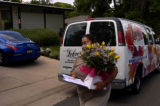 Tanya Montano (cq) bring flowers to the home of Danny Philip Dietz (cq) Thursday afternoon June 7,...