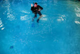 Englewood, Colo., photo taken June 16, 2004- A1 Scuba instructor, Frank Pully gives instruction on...