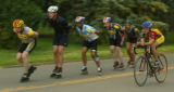Inline skaters, both speed and recreational, at Washington Park in Denver, Colo., on Wednesday,...