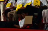 Speller No. 25, Akshay Buddiga, collapses on stage at the 77th Annual Scripps National Spelling...